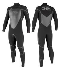O'Neill Mutant 5/4mm Chest Zip Hooded Wetsuit – Black/ Black/ Black