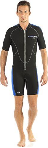 Cressi Herren Neopren Schwimmanzug Lido, schwarz/blau, XL, LV455005