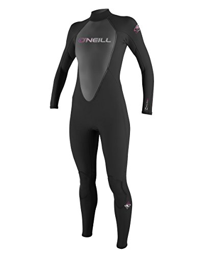 O'Neill Wetsuits Damen Neoprenanzug Reactor 3/2 mm Full Wetsuit, Black, 10, 3800-A05