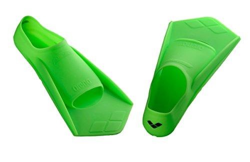 arena Unisex – Erwachsene Schwimm-Trainingsflossen Powerfin, grün Acid Lime/Black, 41-42, 95218