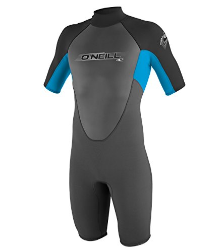O'Neill Wetsuits Jungen Neoprenanzug youth reactor 2 mm S/S spring, Graphite/Tahiti/Black, 8, 3803-BB3