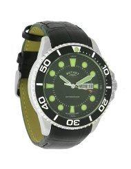 Rotary Herren Silber Zifferblatt Taucher Uhr (9350373)