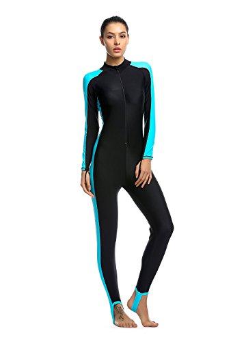 Damen blau M UV-Anzug UPF>50 Schutz swetsuit Schwimmanzug Overall Watersport