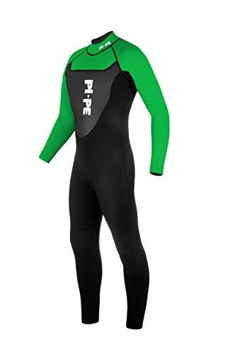 PI-PE Herren Neoprenanzug Active Full Long Sleeve, Green, L, PNA-2-G