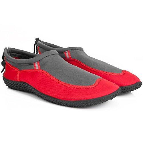 Badeschuhe Neoprenschuhe Wasserschuhe Surfschuhe Strandschuhe Herren Größe 44 Rot