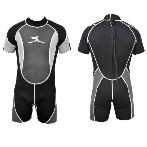 Herren 3 mm Neopren Shorty Größe M 46 -48 Neoprenanzug Surfanzug + Mesh Skin