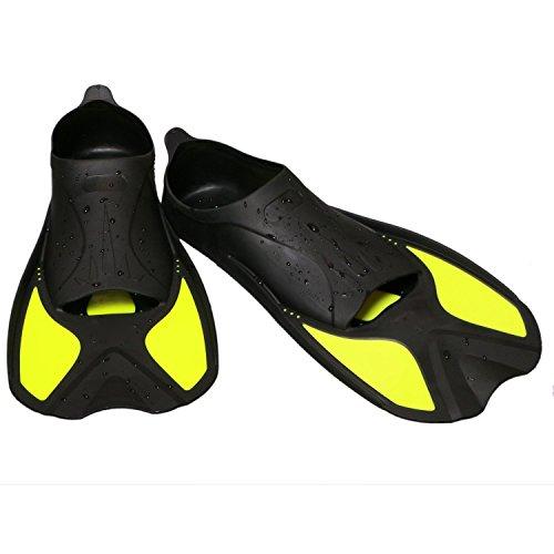 QHGstore Kurze LIGHT Dive Flossen zum Schwimmen und Schnorcheln Rondinella Taucherflossen Schwimmflossen MURENA, Herren, Damen und Kinder Gelb 25.5cm