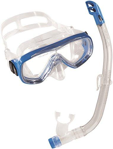 Cressi Unisex – Kinder Schnorchelset Ondina Top, klar/blau, one size, DM1010132