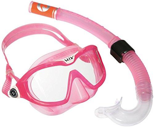 Aqua Lung Sport Kinder-Schnorchel-Set mit Tauchmaske und Schnorchelrohr Einheitsgröße Rosa – rose