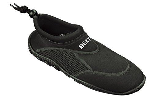 BECO Badeschuhe / Surfschuhe für Damen und Herren schwarz 44