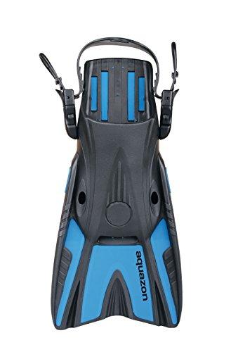 Aquazon Kurzflossen, Flossen, Taucherflossen, Schwimmflossen SHELL für Erwachsene, grössenverstellbar, Grösse L-XL (42-45)