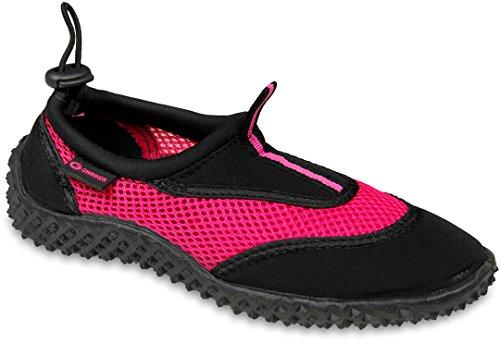 Gwinner Damen Wasserschuhe Surfschuhe Aquaschuhe, schwarz/pink, 36