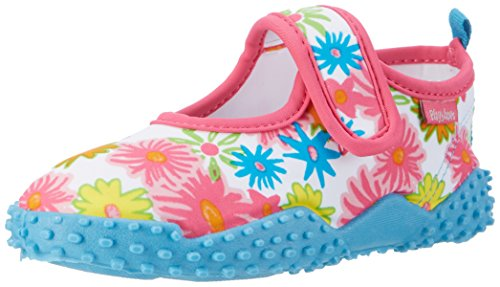 Playshoes Unisex-Kinder Badeschuhe Blumenmeer mit UV-Schutz Aqua Schuhe, Pink (Pink), 24/25 EU