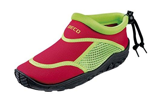 BECO Badeschuhe / Surfschuhe für Kinder rot/grün 33