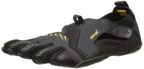Vibram FiveFingers Signa, Herren Aqua Schuhe, Mehrfarbig (Black/yellow), 43 EU