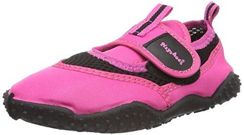 Playshoes Badeschuhe Neonfarben mit höchstem UV-Schutz nach Standard 801 174796, Unisex-Kinder Aqua Schuhe, Pink (pink 18), 22/23 EU