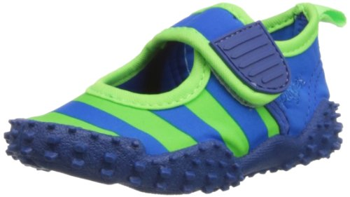 Playshoes Aquaschuhe, Badeschuhe Streifen mit höchstem UV-Schutz nach Standard 801 174795, Mädchen Aqua Schuhe, Blau (blau/grün 791), EU 28/29