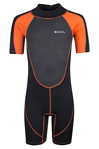 Mountain Warehouse Kinder Shorty Schwimm Tauch Bade Wasser Anzug Neopren Urlaub Wassersport Orange 164