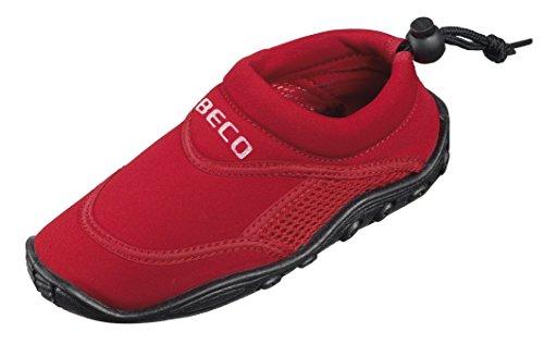 BECO Badeschuhe / Surfschuhe für Kinder rot 21