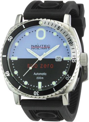 Nautec No Limit Herren-Armbanduhr Sub Zero SZ Analog Automatik AT/RBSTSTBKBL