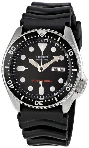 Seiko Herren-Armbanduhr Analog Automatik Kautschuk SKX007K1