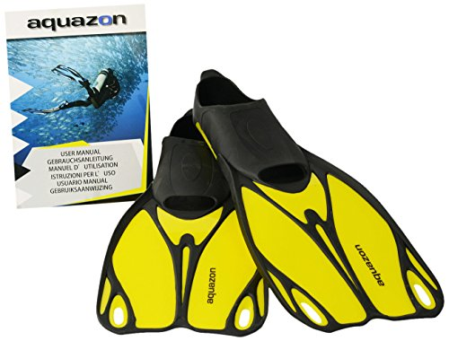 Aquazon Kinder Flossen, Taucherflossen, Schwimmflossen Butterfly, Gelb, 38-39