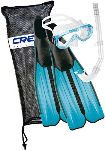 Cressi Unisex Tauchset Rondinella Bag, aquamarine, 41/42, CA189241
