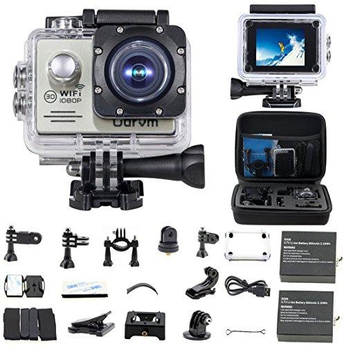 WIFI HD Action Kamera Wasserdicht 2.0 Zoll Helmet Camera Wasserdicht mit 2.0 Zoll LCD HD 1080P Action Cam für motorrad, Fahrrad, Sufen, Skiing, kinder, drohne, hunde