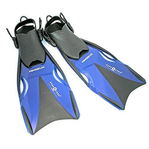 Aqua Lung Taucherflossen Powerflex verstellbar (Farbe / Größe: blau/schwarz – M/L 40-44 verstellbar)