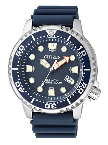 Citizen Herren-Armbanduhr XL Promaster Marine Analog Quarz Plastik BN0151-17L