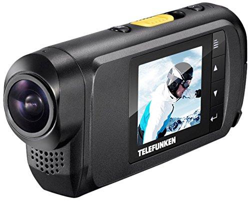 Telefunken FHD170/5 Full-HD Aktion Kamera (mit Helmhalterung und wasserdichtem Gehäuse, Motorrad – Kauftipp)