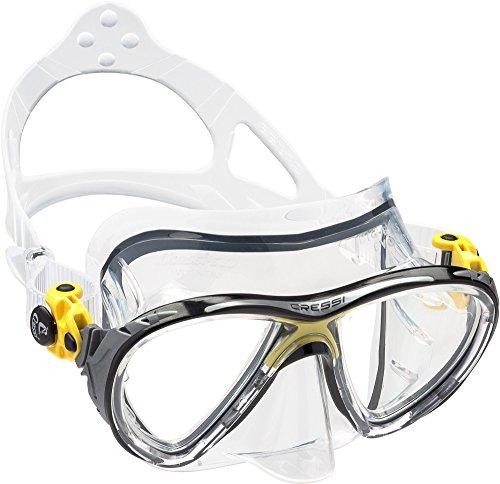 Cressi Unisex – Erwachsene Taucherbrille Big Eyes Evolution, gelb, DS336010