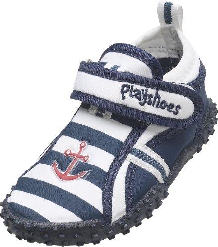 Playshoes Aquaschuhe, Badeschuhe Maritim mit höchstem UV-Schutz nach Standard 801 174781, Jungen Aqua Schuhe, Blau (original 900), EU 26/27