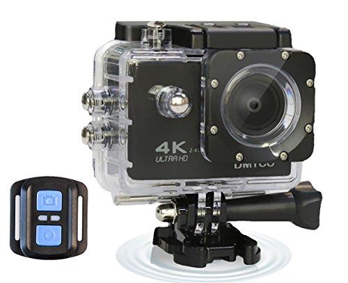 DMYCO Sport Action Kamera, 4 K WIFI Kamera Ultra HD Wasserdicht 30 M, 2.4 G kabellose Fernbedienung, 16 MP, 170 Grad Weitwinkel Objektiv Action Cam