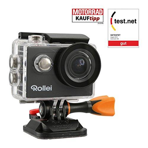 Rollei Actioncam 425 – 4k 2160p, Unterwassergehäuse für bis zu 40m Wassertiefe, 2.4 G Hochfrequenz-Handgelenk-Fernbedienung – schwarz