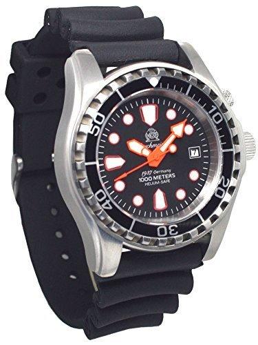Automatik Taucher Uhr mit Spahirglas Heliumventil T0283