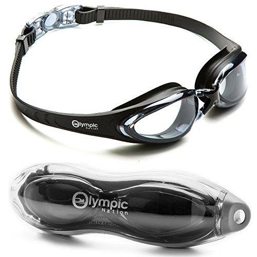 Olympic Nation krisallklare, bequeme Schwimmbrille mit Antibeschlag-Schutz, besonders hochwertige Taucherbrille für Erwachsene, Kinder, Männer, Frauen und Kleinkinder – Schwimmen Sie wie ein Profi